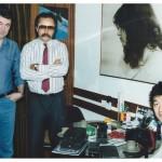 Vinko Anđelković, Tomislav Sumić i Sano Takeshi u foto radnji u Narodnog Fronta